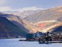 Erhai and cang mountain view Stock Image