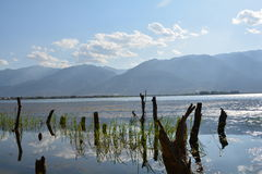 Erhai lake Arkivfoto