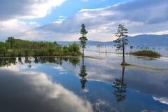 Erhai lake. Fishing village, there is a big lake Royalty Free Stock Photo