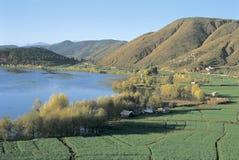 Erhai lake i southwestporslin Royaltyfri Bild