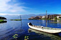 Erhai lake at Shuanglang town Stock Photography