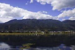 Erhai Lake. Yunnan on the boat in the sun Stock Photos