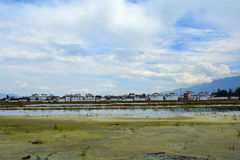 Erhai lake. In Yunnan, China.This is the Xizhou town beside the royalty free stock images