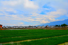 Erhai lake. In Yunnan, China. in Yunnan, China.This is the Xizhou town beside the Royalty Free Stock Photo