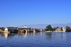 ErHai Lakeside Village. Its a small island in a beautiful ErHai lake which is beside a old town called dali of china.There is a temple in island royalty free stock image
