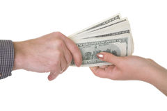 Erhalten des Geldes Lizenzfreies Stockbild