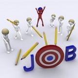 Erhalten des Jobs Stockbild