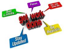 Erhalten Sie Arbeit erledigt Stockbild