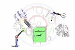 Erhalten Sie das bereite Lernen mechanisch für neue Erfahrung stock abbildung