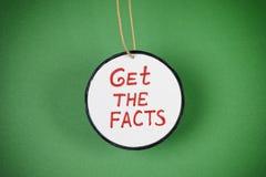 Erhalten Sie die Tatsachen lizenzfreie stockfotografie