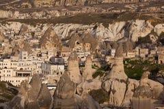 Erhalten Sie Dunkelheit in Capadocia Stockbild