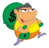 Erhalten Sie Geld Stockbild