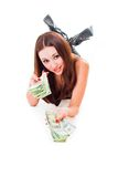 Erhalten Sie Geld Lizenzfreie Stockbilder