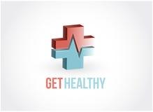 erhalten Sie gesundes rotes und blaues Rettungsleinenkreuz Lizenzfreies Stockbild