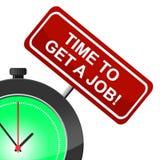 Erhalten Sie Job Means At The Moment und z.Z. Stockbilder
