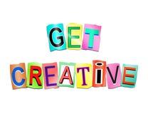 Erhalten Sie kreatives Konzept Stockbild