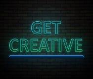Erhalten Sie kreatives Konzept vektor abbildung