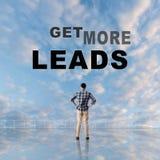 Erhalten Sie mehr Führungen stockfoto