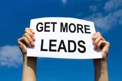 Erhalten Sie mehr Führungen, Konzept stockfotografie