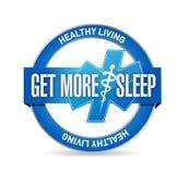 erhalten Sie mehr Schlaf gesunde Lebendichtungsillustration Lizenzfreie Stockbilder
