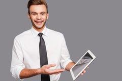 Erhalten Sie mit technologischem Fortschritt aufrecht Lizenzfreies Stockbild
