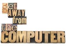Erhalten Sie weg von dem Computer Stockfotografie