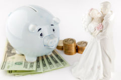 Erhalten verheiratete und Finanzgewissenhaftigkeit Stockfotografie