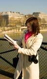 Erhalten verloren in Paris Stockbild