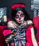 Erholung des mexikanischen Tages der Toten stockfotos