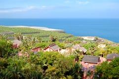 Erholungbereich mit Landhäusern des Luxushotels Lizenzfreies Stockfoto