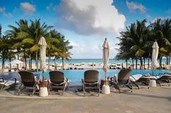 Erholungsort im Playa del Carmen Lizenzfreies Stockfoto