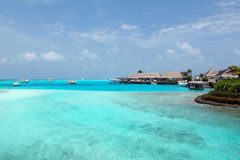 Erholungsort in Maidives Stockbilder