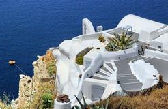 Erholungsort in Santorini Lizenzfreies Stockbild
