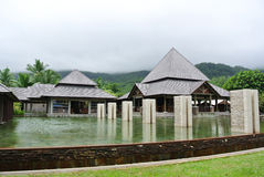 Erholungsort in Seychellen-Inseln stockfotografie