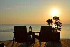 Erholungsort-Sonnenuntergang Lizenzfreie Stockfotografie