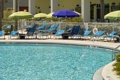 Erholungsort-Swimmingpool Stockbild
