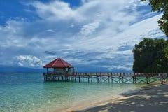 Erholungsort-tropisches Paradies-Strand-Ozean-Meer Crystal Water Clear San lizenzfreie stockbilder