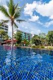 Erholungsort und Pool Lizenzfreies Stockfoto