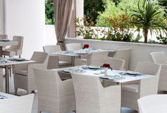Erholungsortrestaurant, Kroatien Lizenzfreies Stockbild