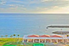 Erholungsortstrand von Okinawa stockbild