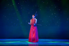 Erhu solo. March 2, 2011. a reflection of Jiangxi original ecological humanities landscape of large style song and dance the wind in Jiangxi Art Theatre costumes Royalty Free Stock Images
