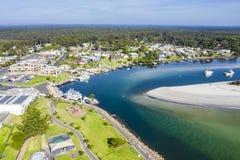 Erial view of Huskisson near Jervis Bay, NSW South Coast, Australia