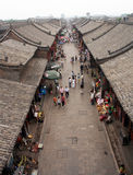 Erial view of an old street in Pingyao, China Royalty Free Stock Image