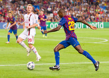Eric Abidal in action Royalty Free Stock Photos