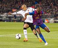 Eric Abidal of FC Barcelona Stock Images