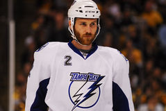 Eric Brewer Tampa Bay Lightning Fotografia Stock