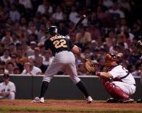 Eric Byrnes, outfielder de Oakland a Imagens de Stock
