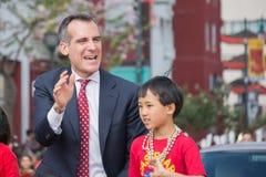 Eric Garcetti, alcalde de Los Ángeles Foto de archivo libre de regalías