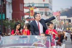 Eric Garcetti, alcalde de Los Ángeles Imágenes de archivo libres de regalías