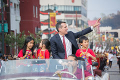 Eric Garcetti, de Burgemeester van Los Angeles Royalty-vrije Stock Afbeeldingen